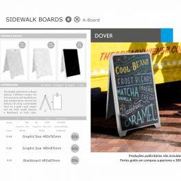 Sidewalk boards Dover